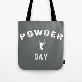 Powder Day Grey Tote Bag