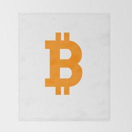 Bitcoin basic Throw Blanket