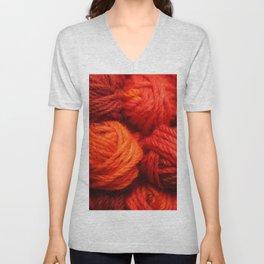 Many Balls of Wool in Shades of Red #society6 #decor #buyart Unisex V-Neck