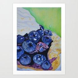 """Slice Of Blueberry Heaven"" Art Print"