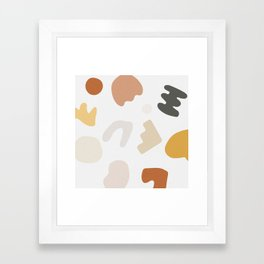 Abstract Shape Series - Autumn Color Study Framed Art Print
