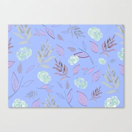 Simple and stylized flowers 10 Canvas Print