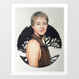 The Divergent Series: Insurgent - Tris | Drawing Art Print