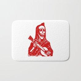 Grim Reaper With Guitar Bath Mat