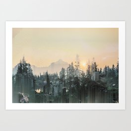 buildedForest/ Art Print