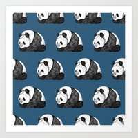 pandas Art Prints featuring Pandas by Diana Hope