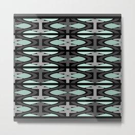 Aztec Green Woven Design Metal Print