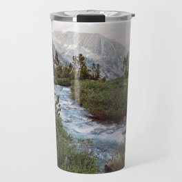 Alpine River and Mountains Travel Mug
