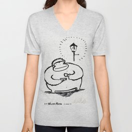 Enormous Ape Drinks Tiny Cup of Tea Unisex V-Neck