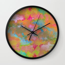 Abstract colorful background Wall Clock