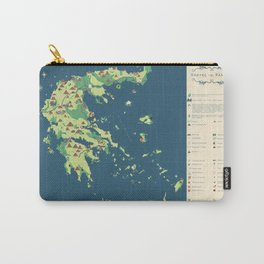 MAP OF GREECE Carry-All Pouch