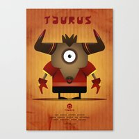 taurus Canvas Prints featuring TAURUS by Angelo Cerantola