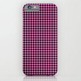 Mini Black and Pink Cowboy Buffalo Check iPhone Case
