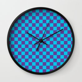Checkered Pattern III Wall Clock