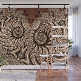 Owl Fractal Chocoate Wall Mural