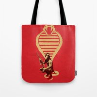 snake Tote Bags featuring Snake by Robert Farkas