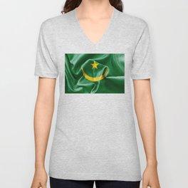 Mauritania Flag Unisex V-Neck