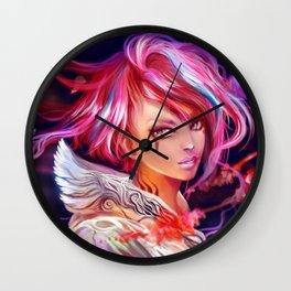 Sakura girl Wall Clock