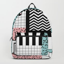 ABSTRACT PASTEL 80s POP ART RETRO PATTERN Backpack