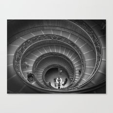 The Spiralling Staircase. Canvas Print