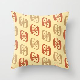 Starburst Bell Peppers Yellow Throw Pillow