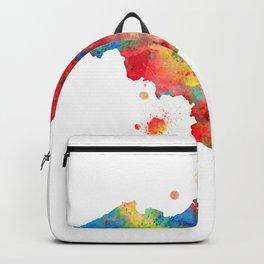 Belgium Map Watercolor Painting Backpack