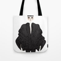 goth Tote Bags featuring Elegant goth by \nicolafleming