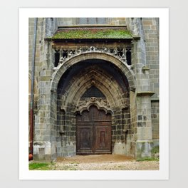 brasov black church door Art Print