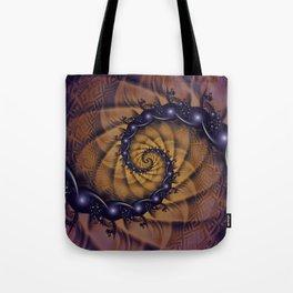 An Emperor Scorpion's 1001 Fractal Spiral Stingers Tote Bag