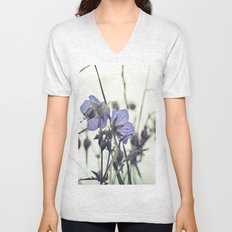 Sunlit meadow Crane's-bill Unisex V-Neck