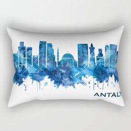 Antalya Turkey Skyline Blue Rectangular Pillow