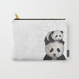 Panda Family Carry-All Pouch