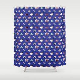 Tokyo doodles Shower Curtain
