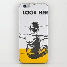 Look here iPhone Skin