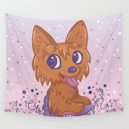 Little Yorkie Wall Tapestry