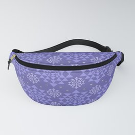 Sri Yantra  pattern - pastel purple and silver Fanny Pack