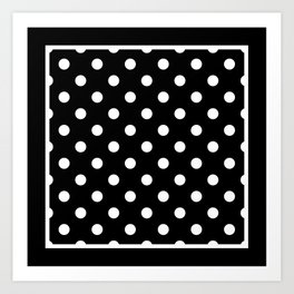 Black Polka Dots Palm Beach Preppy Art Print