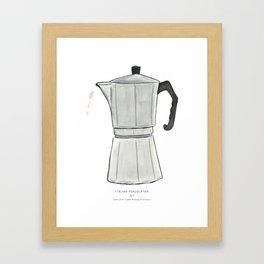 Italian Percolator Coffee Framed Art Print