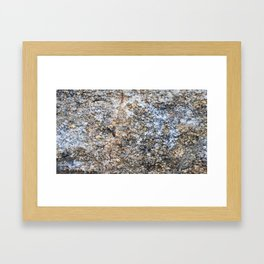 The surface of the granite stone. Framed Art Print