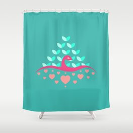 Be Beautiful - Be Colourful Peacock Shower Curtain