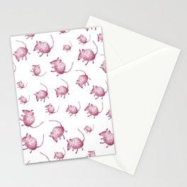Pink Mouses Stationery Cards