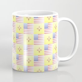 Mix of flag : USA and new mexico 2 with color gradient Coffee Mug