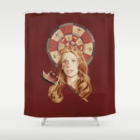 buffy Shower Curtains featuring Buffy by mycolour