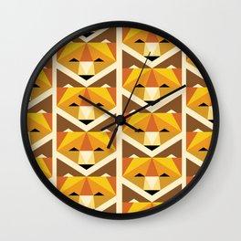 Lookin' Foxy Pattern Wall Clock