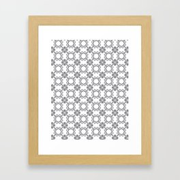 Grey Swirl Pattern Framed Art Print