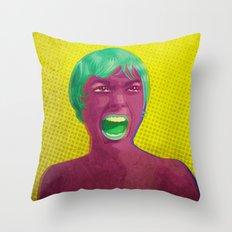 Horror Movie Pop Art Throw Pillow