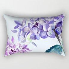 Hydrangea blue hues Rectangular Pillow