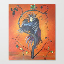 Gamaun The Prophetic Bird With Ruffled Feathers Canvas Print