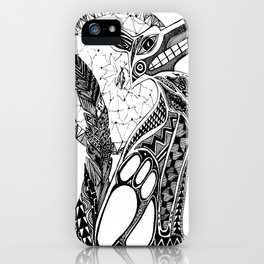 Doodle Abstract Coyote iPhone Case