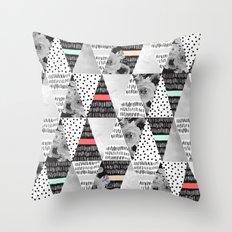 MOSAIC TRIANGLES TEXTURES Throw Pillow